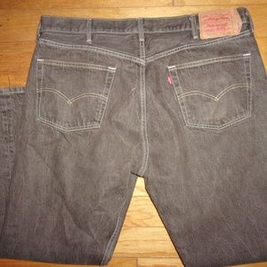 LEVI LEVIS 501 MEN'S BUTTON FLY JEANS 42 X 30